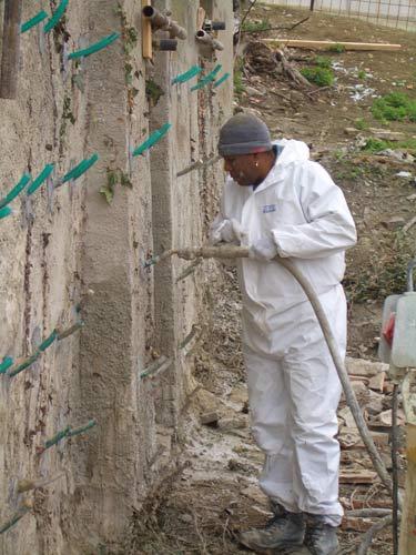 Iniezioni di boiacca fluida di cemento